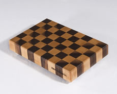 "Black Walnut and Maple Checkered Pattern shown in 10""×15"""