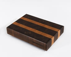 "Black Walnut with Cherry Stripes shown in 10""×15"""