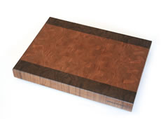 "Cherry with Black Walnut Borders shown in 14""×21"""